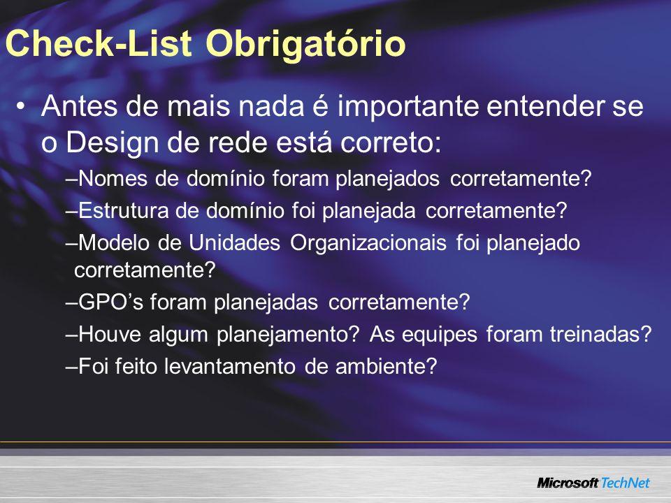 Check-List Obrigatório