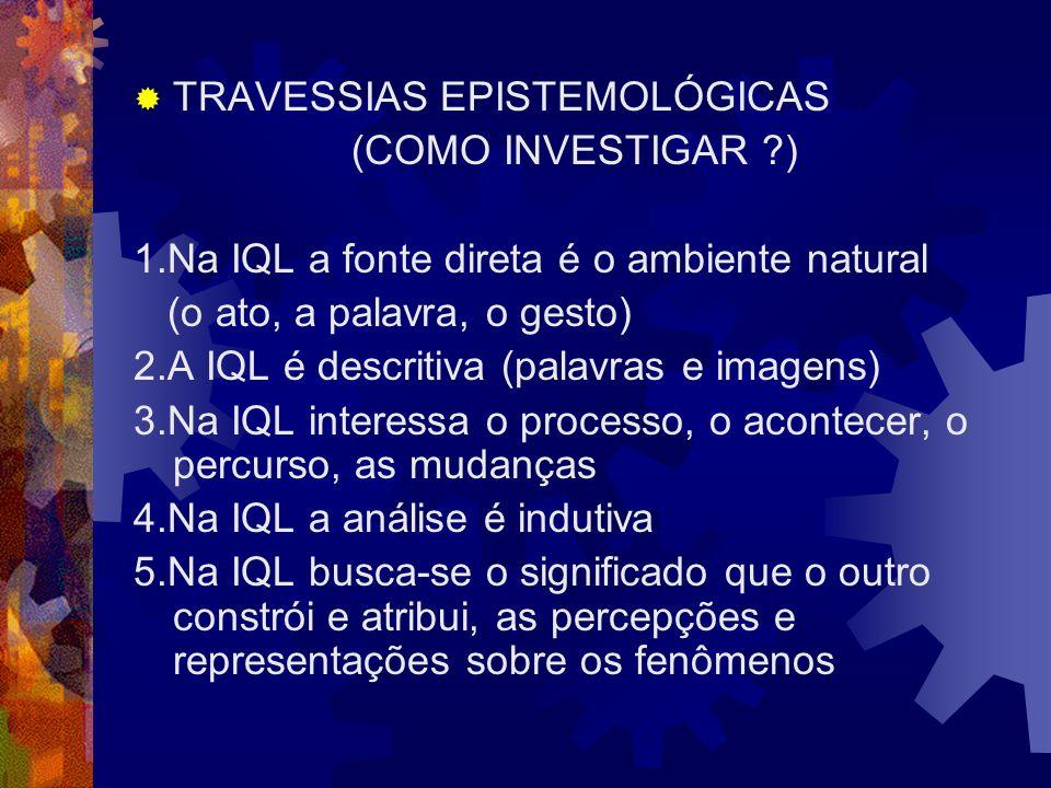 TRAVESSIAS EPISTEMOLÓGICAS