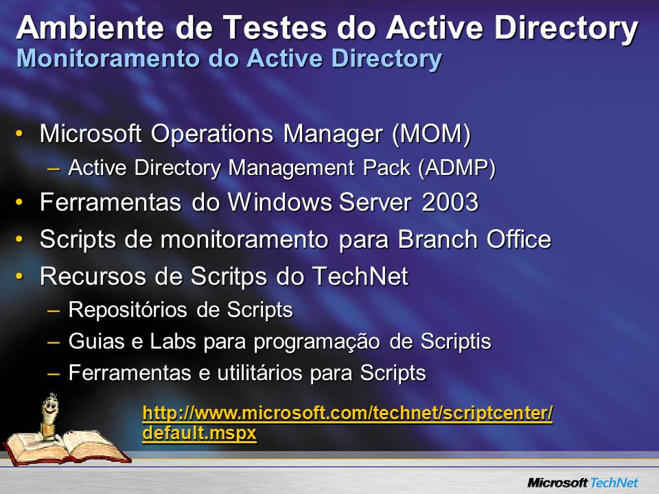 Ambiente de Testes do Active Directory Monitoramento do Active Directory