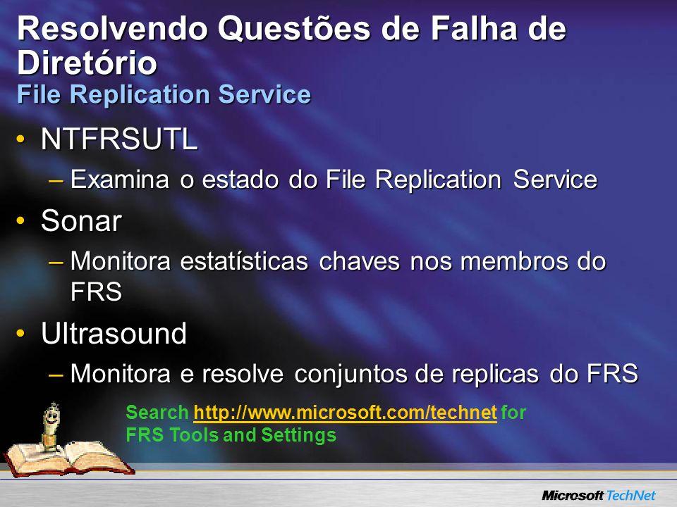 Resolvendo Questões de Falha de Diretório File Replication Service