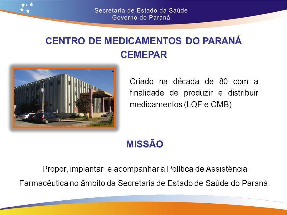 CENTRO DE MEDICAMENTOS DO PARANÁ