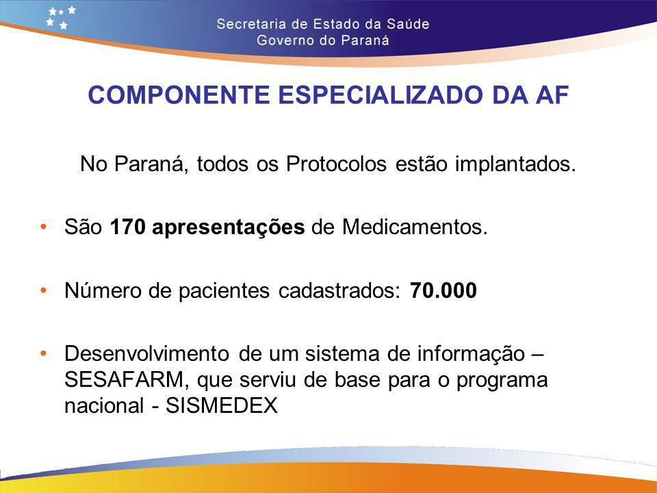 COMPONENTE ESPECIALIZADO DA AF