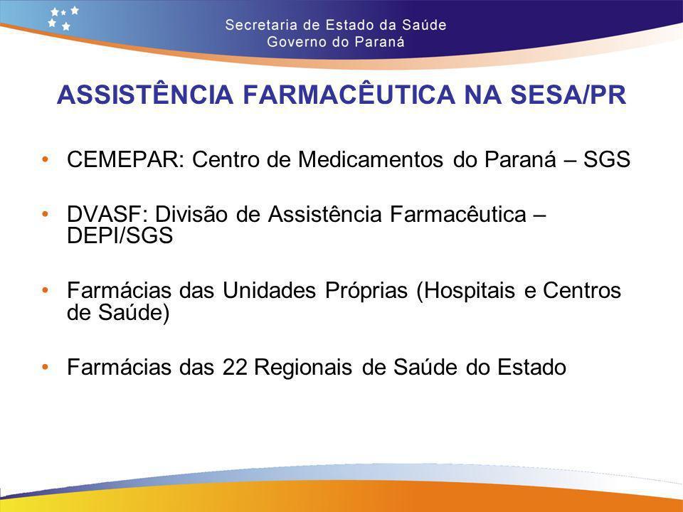 ASSISTÊNCIA FARMACÊUTICA NA SESA/PR