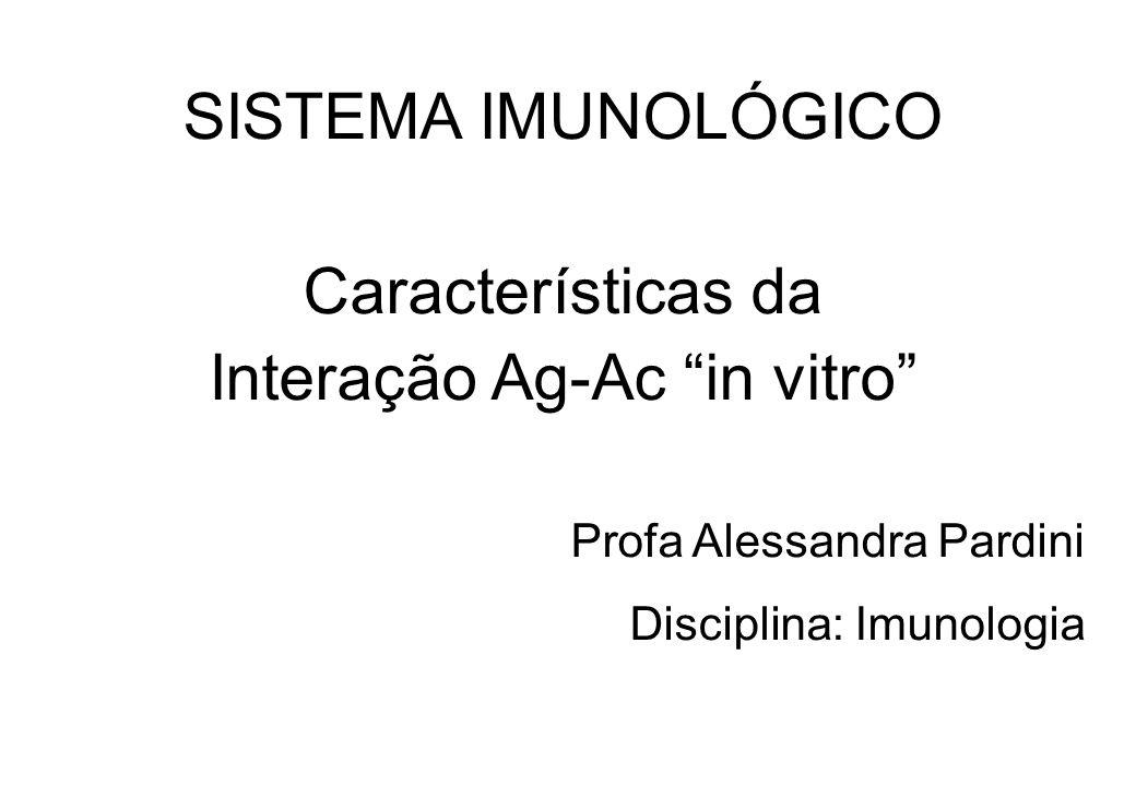 Interação Ag-Ac in vitro