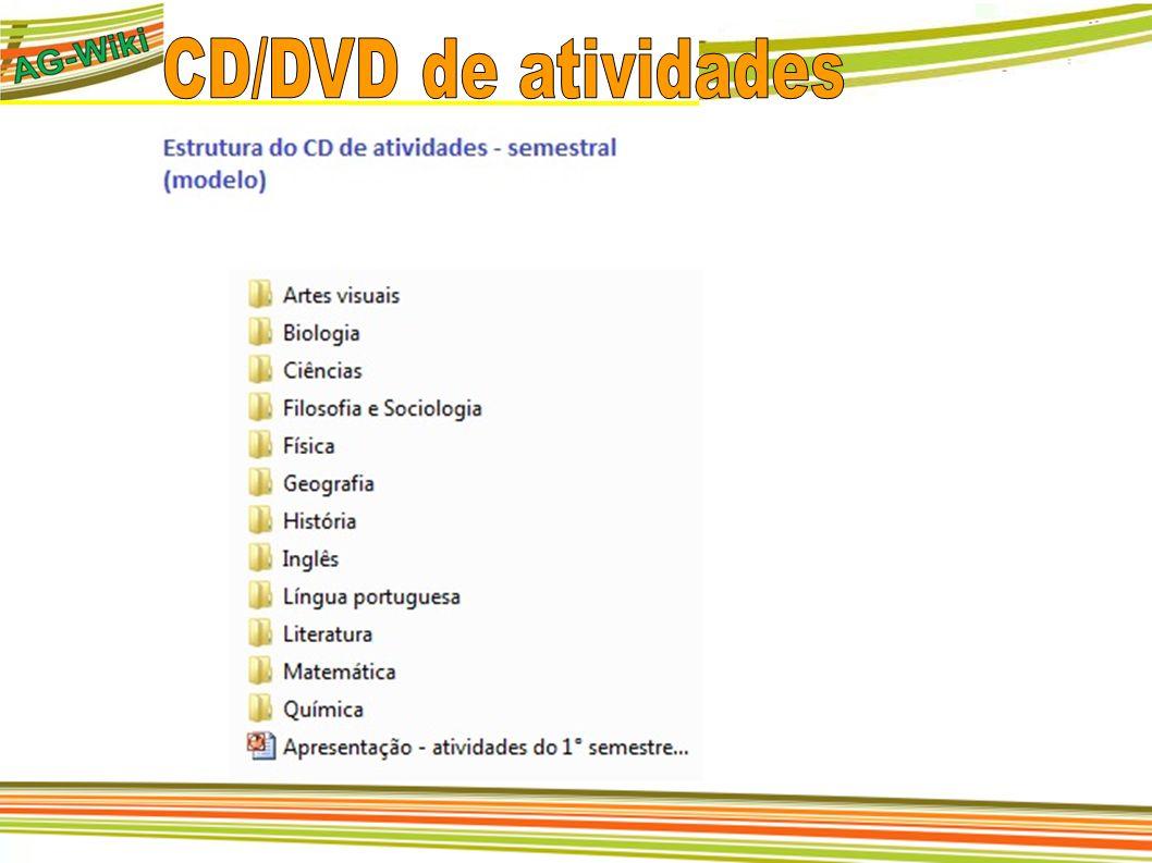 CD/DVD de atividades