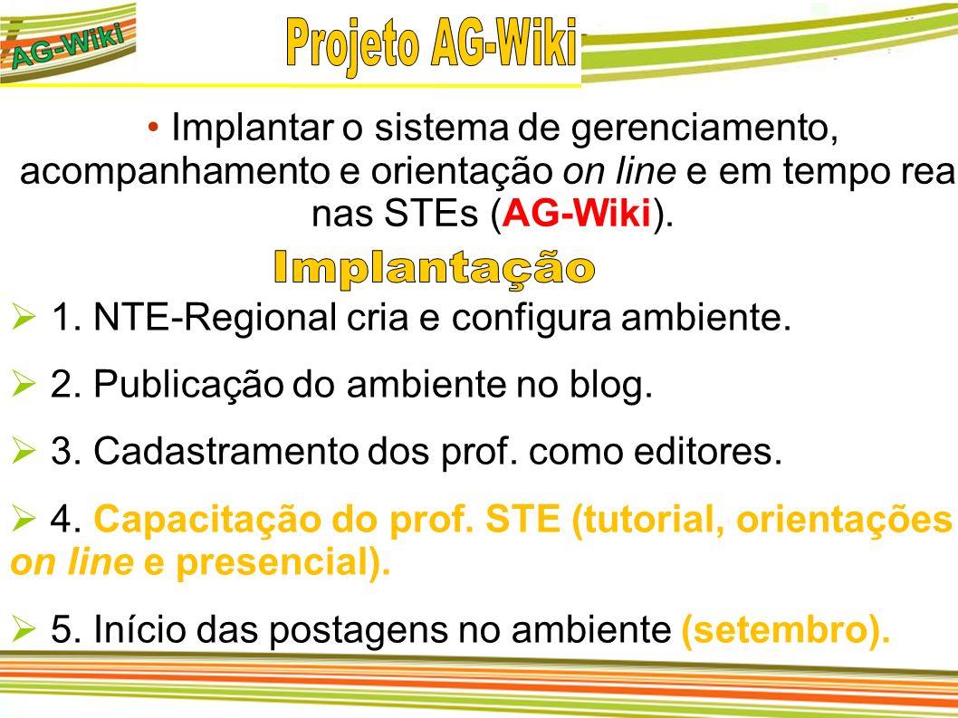 Projeto AG-Wiki Implantação