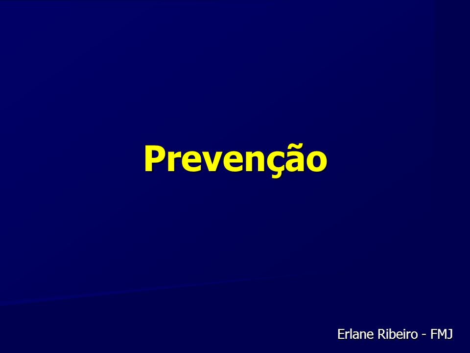 Prevenção Erlane Ribeiro - FMJ