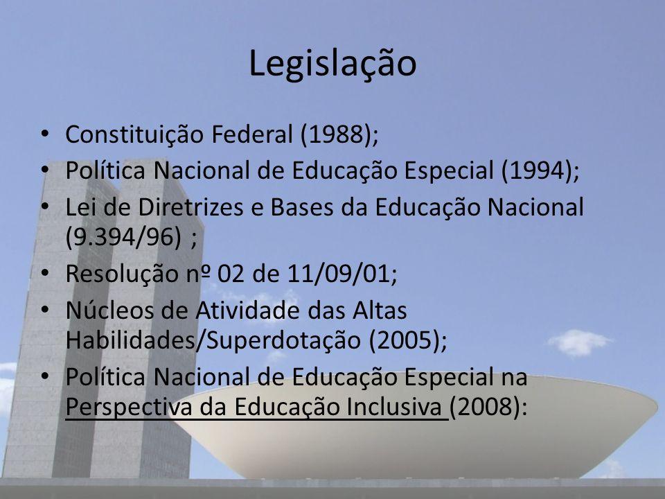 Legislação Constituição Federal (1988);