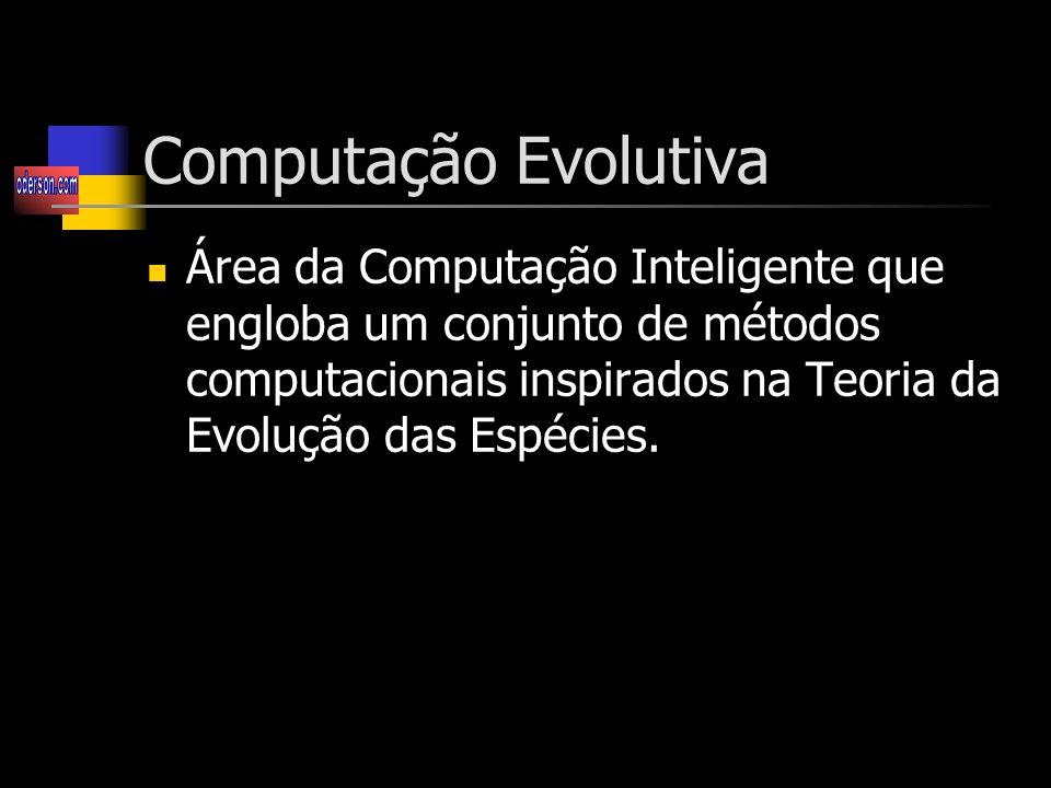Computação Evolutiva Área da Computação Inteligente que engloba um conjunto de métodos computacionais inspirados na Teoria da Evolução das Espécies.