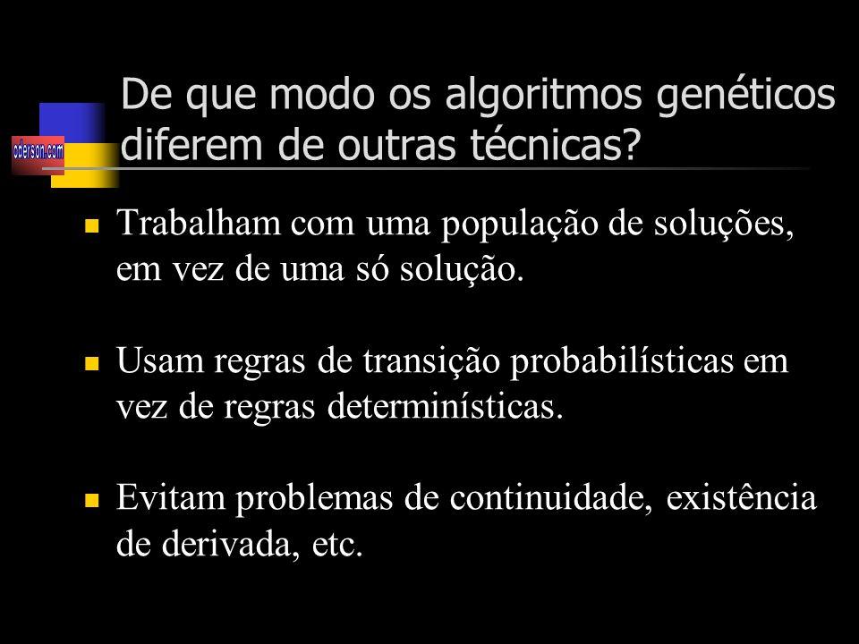 De que modo os algoritmos genéticos diferem de outras técnicas
