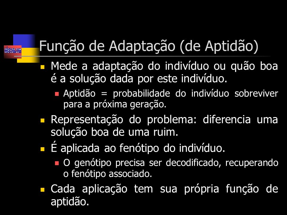 Função de Adaptação (de Aptidão)