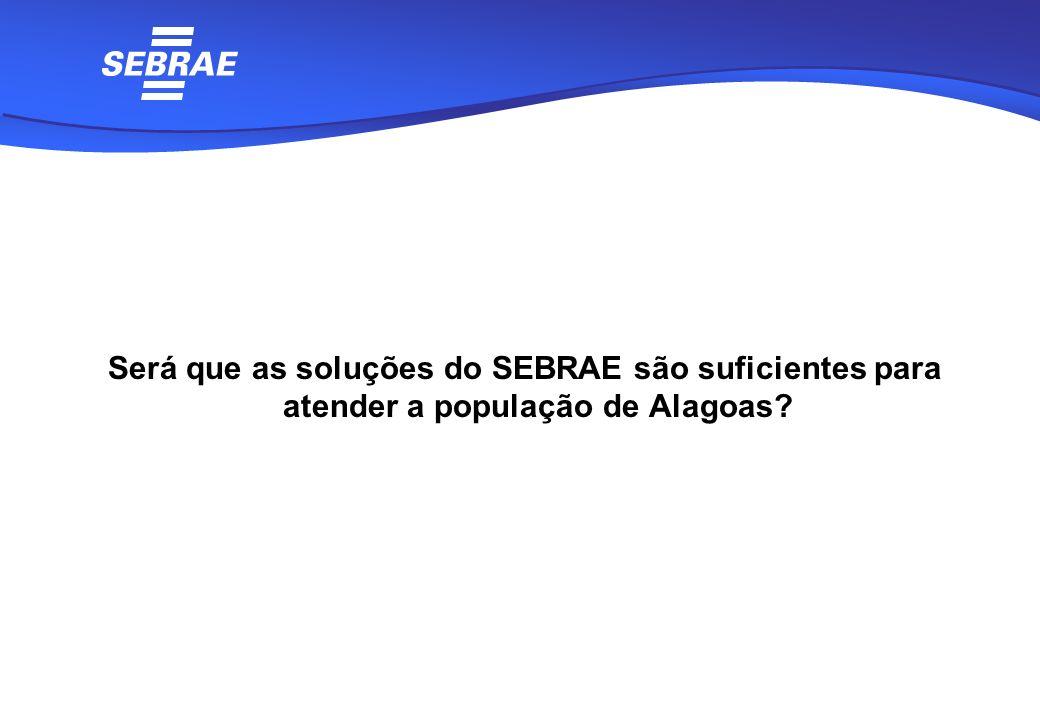 Será que as soluções do SEBRAE são suficientes para atender a população de Alagoas