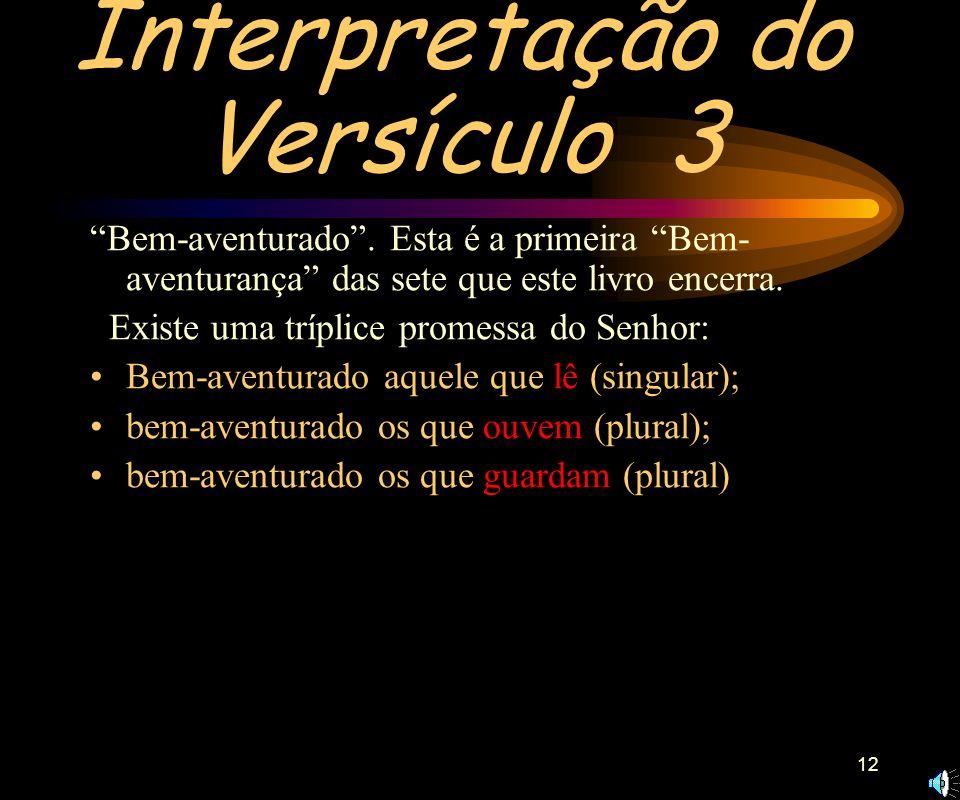 Interpretação do Versículo 3