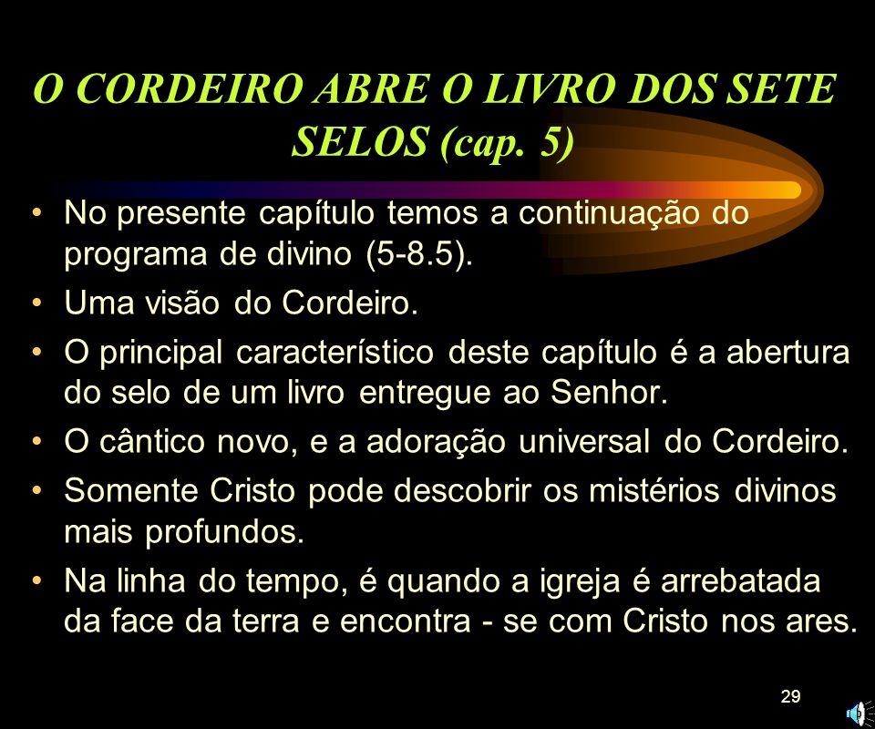 O CORDEIRO ABRE O LIVRO DOS SETE SELOS (cap. 5)
