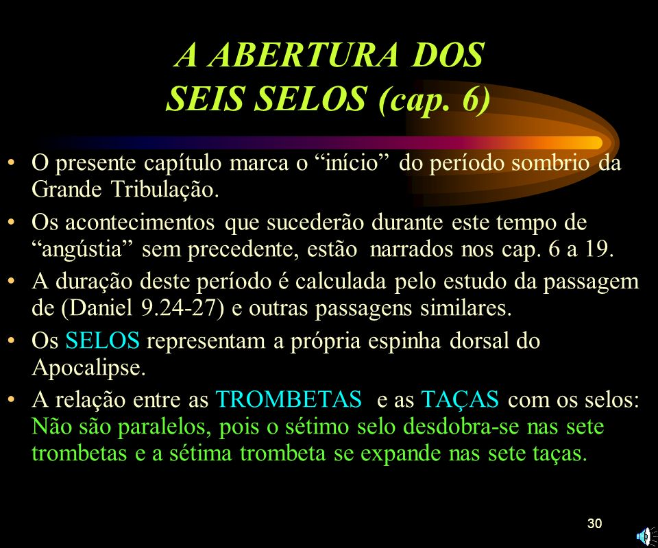 A ABERTURA DOS SEIS SELOS (cap. 6)