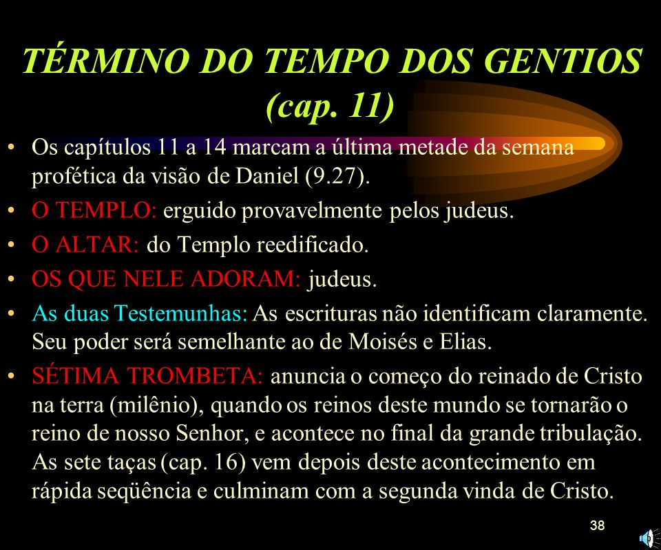 TÉRMINO DO TEMPO DOS GENTIOS (cap. 11)
