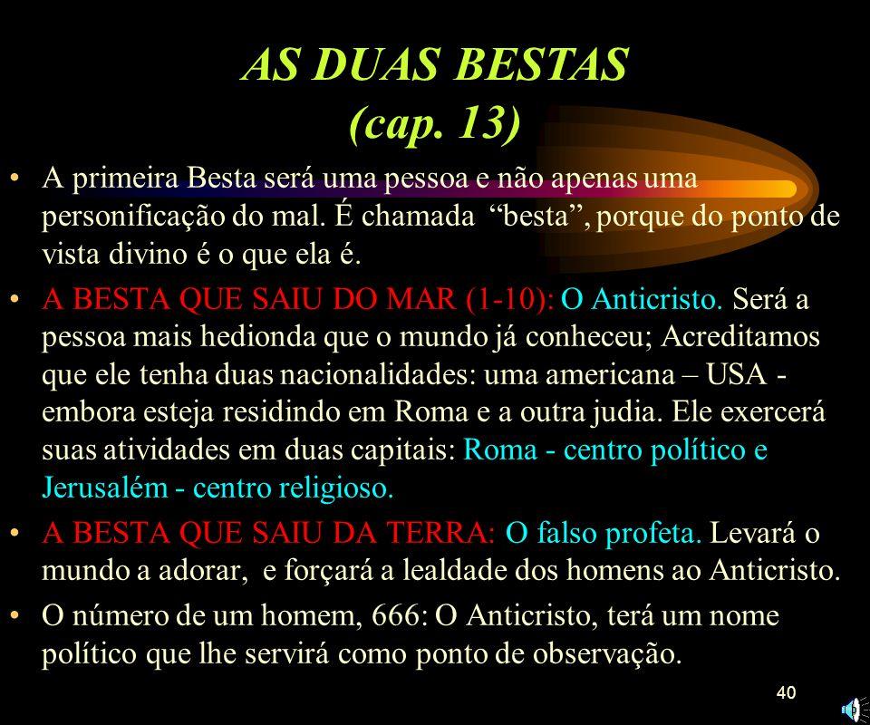 AS DUAS BESTAS (cap. 13)