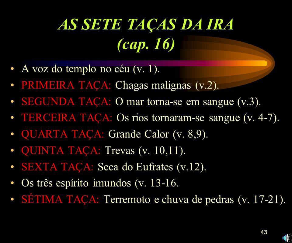 AS SETE TAÇAS DA IRA (cap. 16)