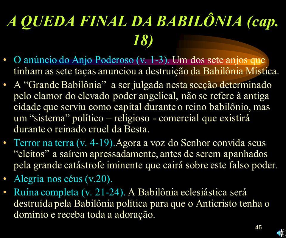 A QUEDA FINAL DA BABILÔNIA (cap. 18)