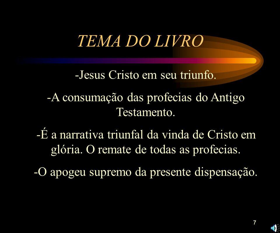 TEMA DO LIVRO -Jesus Cristo em seu triunfo.