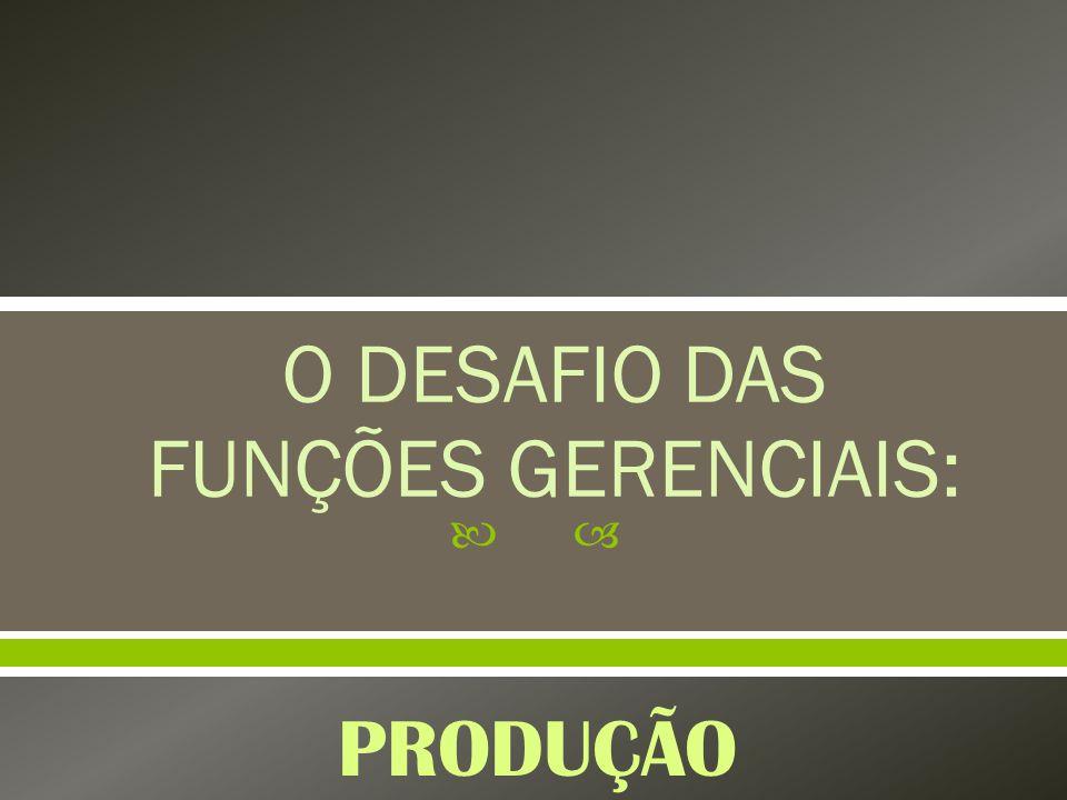 O DESAFIO DAS FUNÇÕES GERENCIAIS: