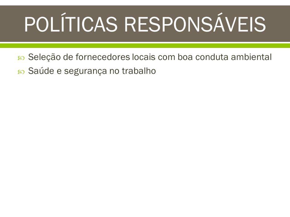 POLÍTICAS RESPONSÁVEIS
