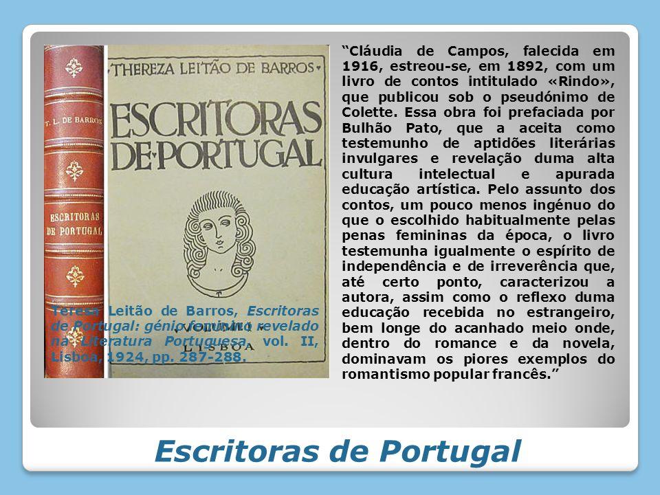 Escritoras de Portugal