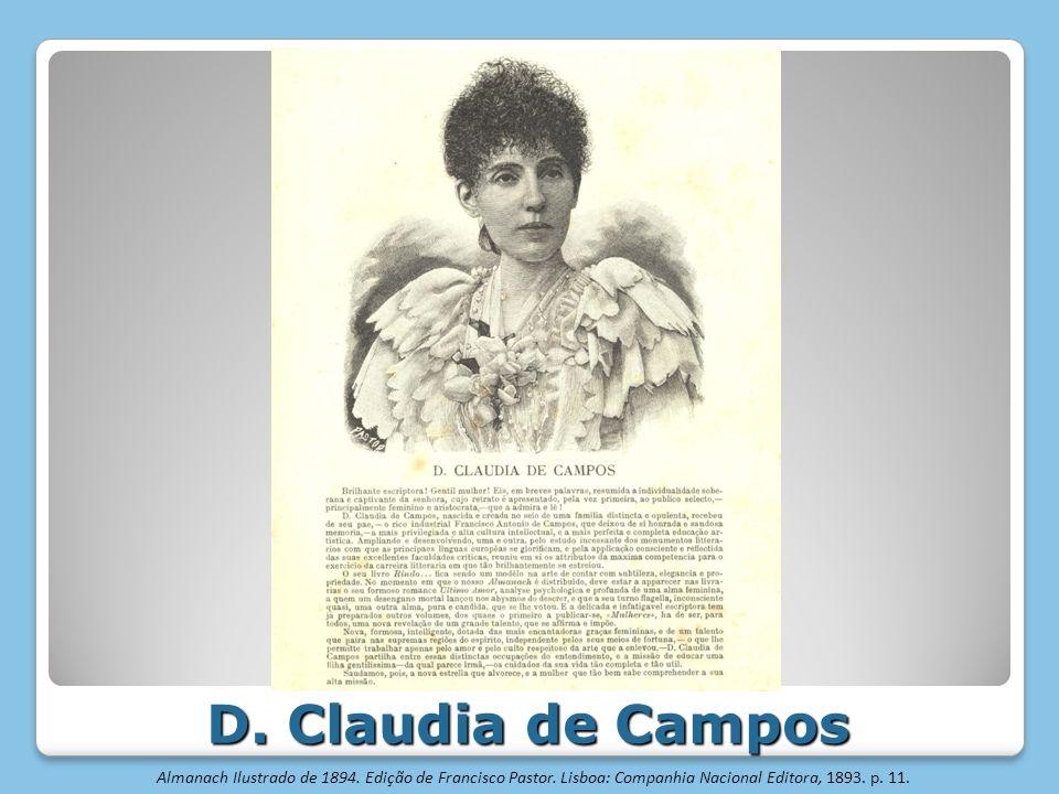 D. Claudia de Campos Almanach Ilustrado de 1894