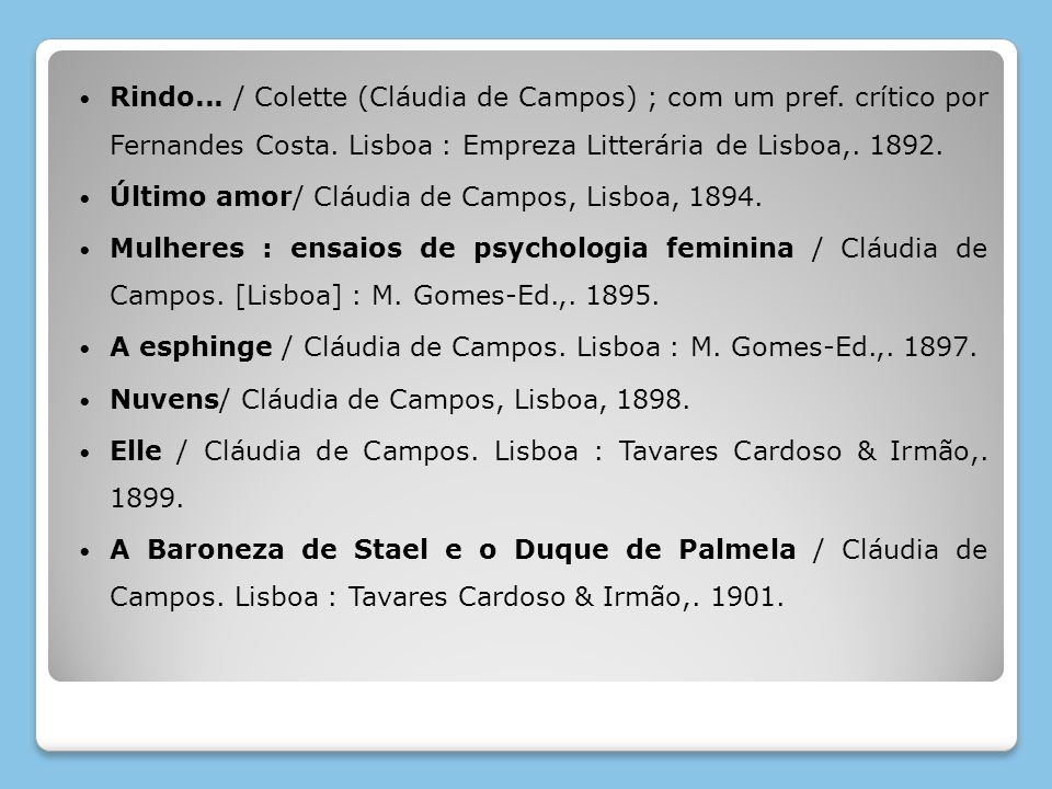 Rindo. / Colette (Cláudia de Campos) ; com um pref