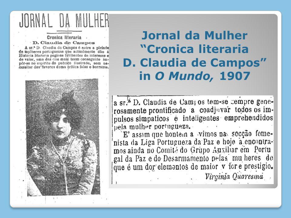 Jornal da Mulher Cronica literaria D