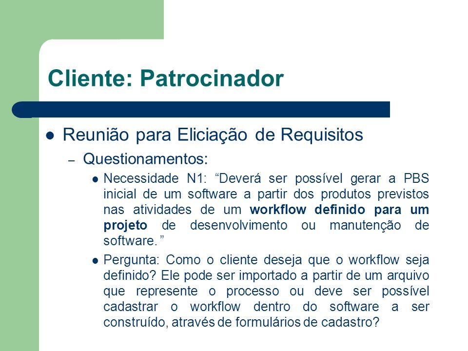 Cliente: Patrocinador