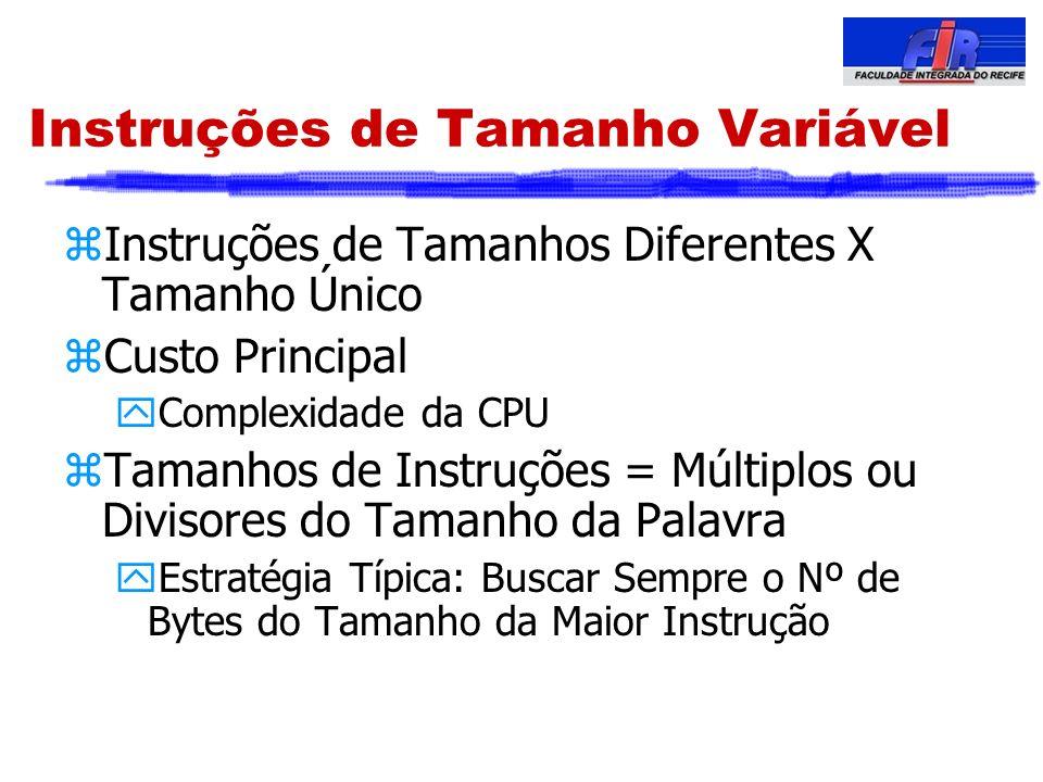 Instruções de Tamanho Variável