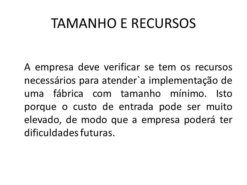 TAMANHO E RECURSOS