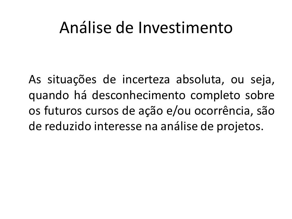 Análise de Investimento