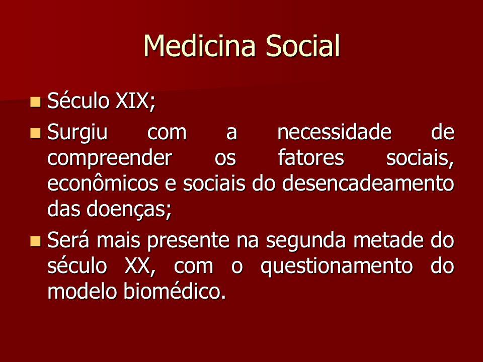 Medicina Social Século XIX;