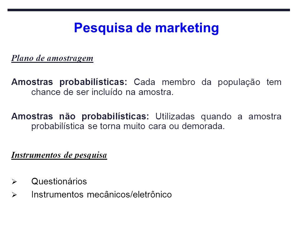 Pesquisa de marketing Plano de amostragem