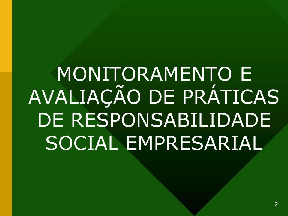 MONITORAMENTO E AVALIAÇÃO DE PRÁTICAS DE RESPONSABILIDADE SOCIAL EMPRESARIAL