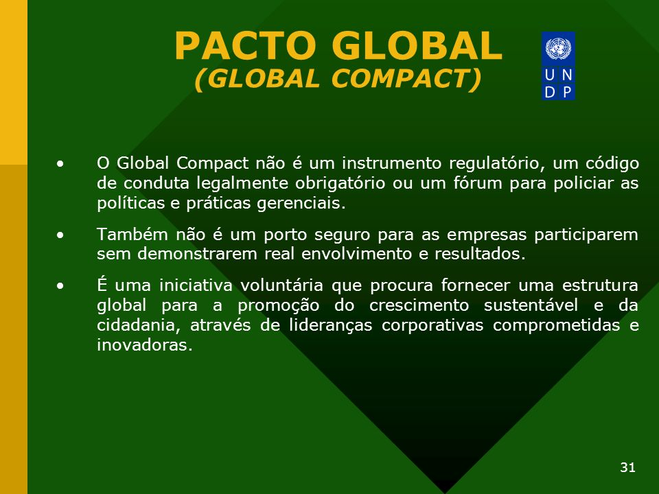 PACTO GLOBAL (GLOBAL COMPACT)