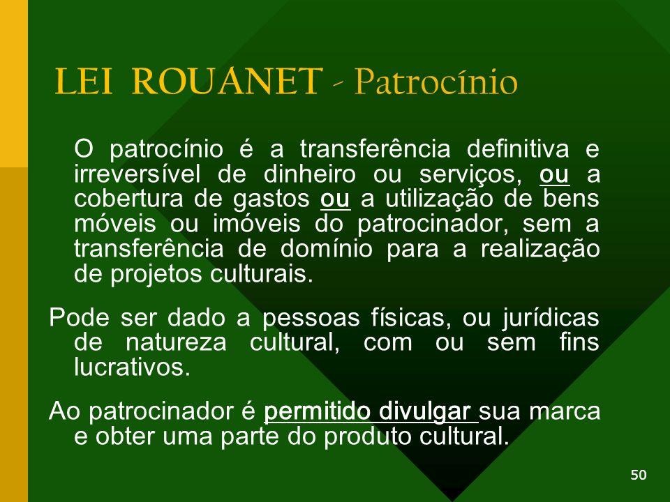 LEI ROUANET - Patrocínio