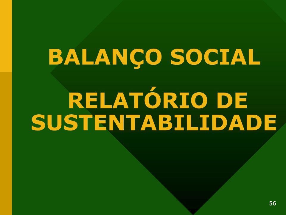 BALANÇO SOCIAL RELATÓRIO DE SUSTENTABILIDADE