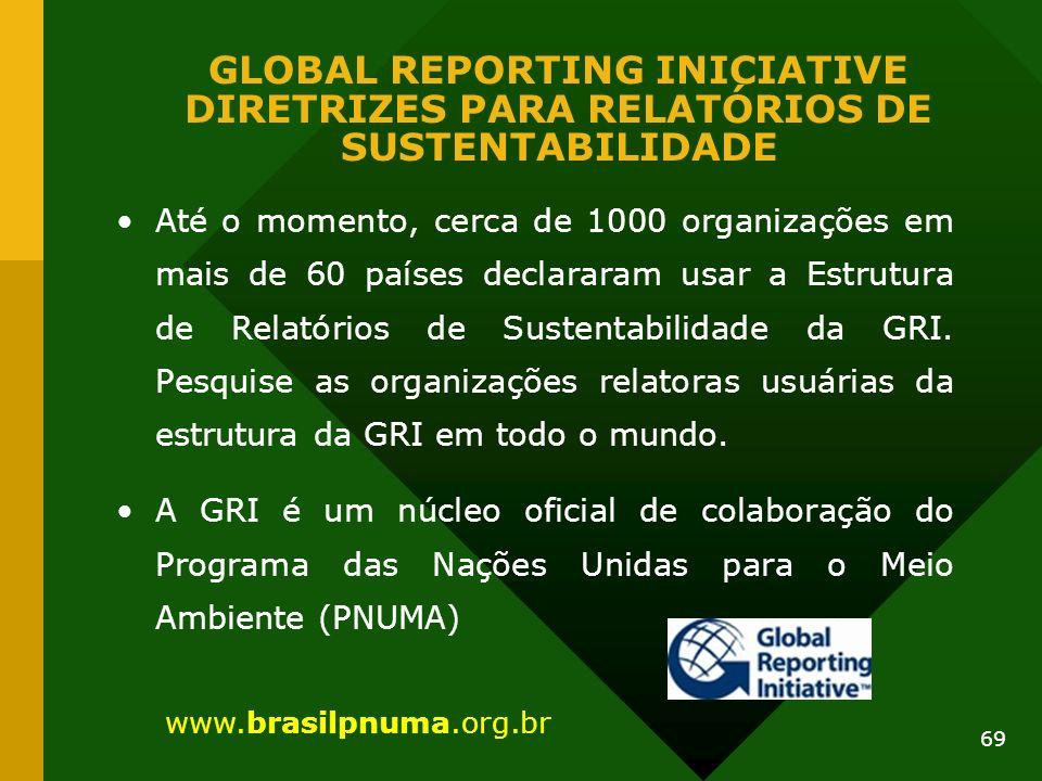 GLOBAL REPORTING INICIATIVE DIRETRIZES PARA RELATÓRIOS DE SUSTENTABILIDADE