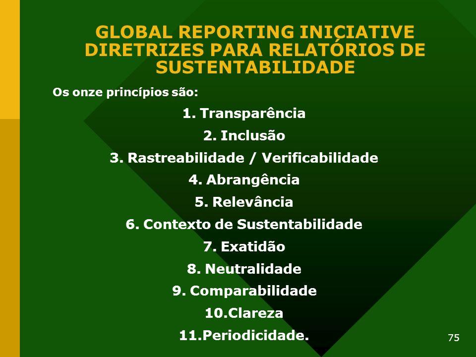 Rastreabilidade / Verificabilidade Contexto de Sustentabilidade