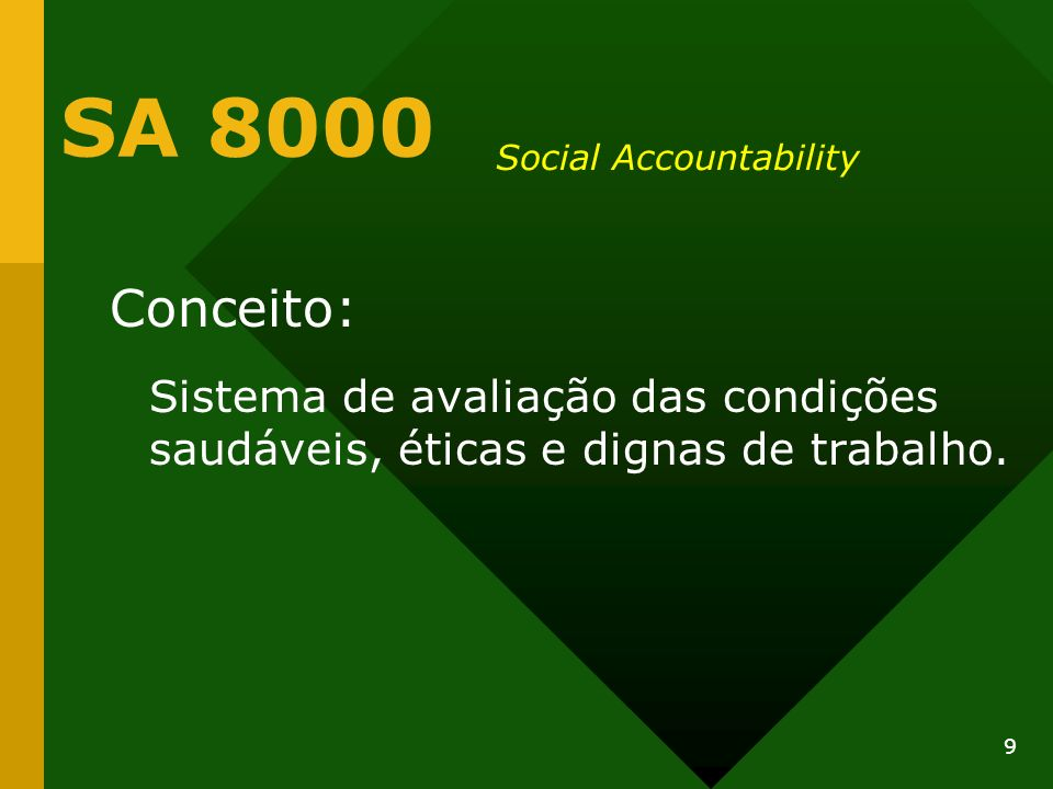 SA 8000 Social Accountability.