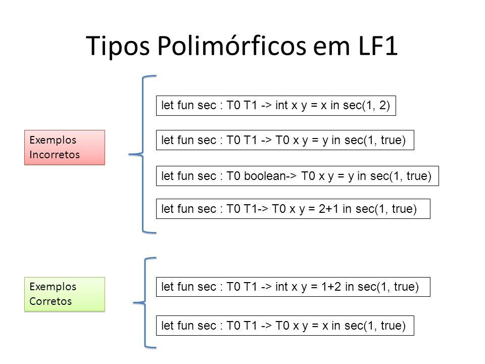 Tipos Polimórficos em LF1