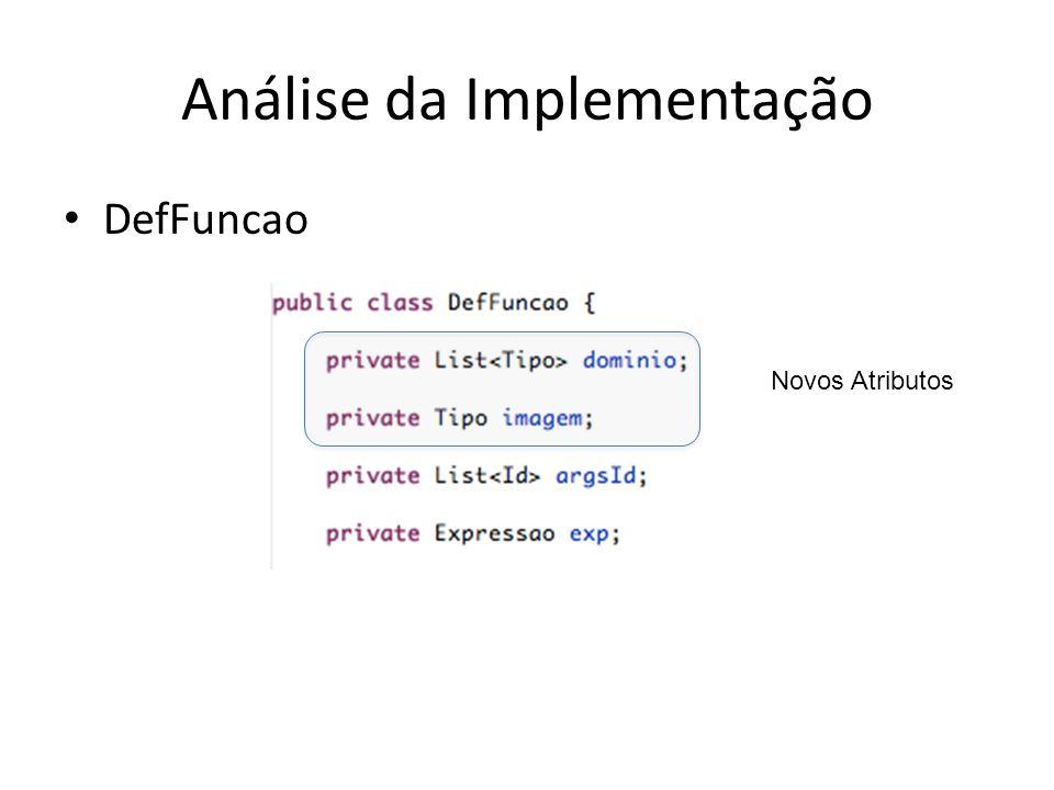 Análise da Implementação
