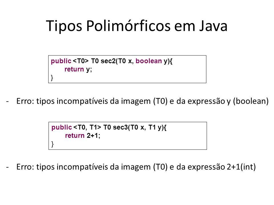 Tipos Polimórficos em Java