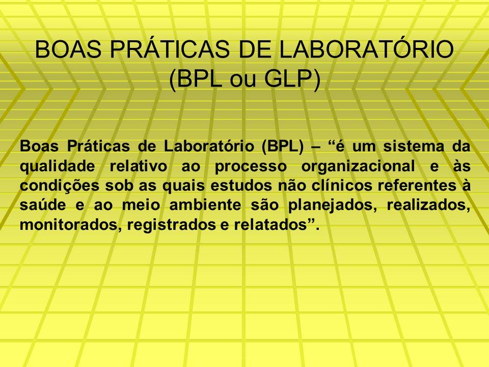 BOAS PRÁTICAS DE LABORATÓRIO (BPL ou GLP)
