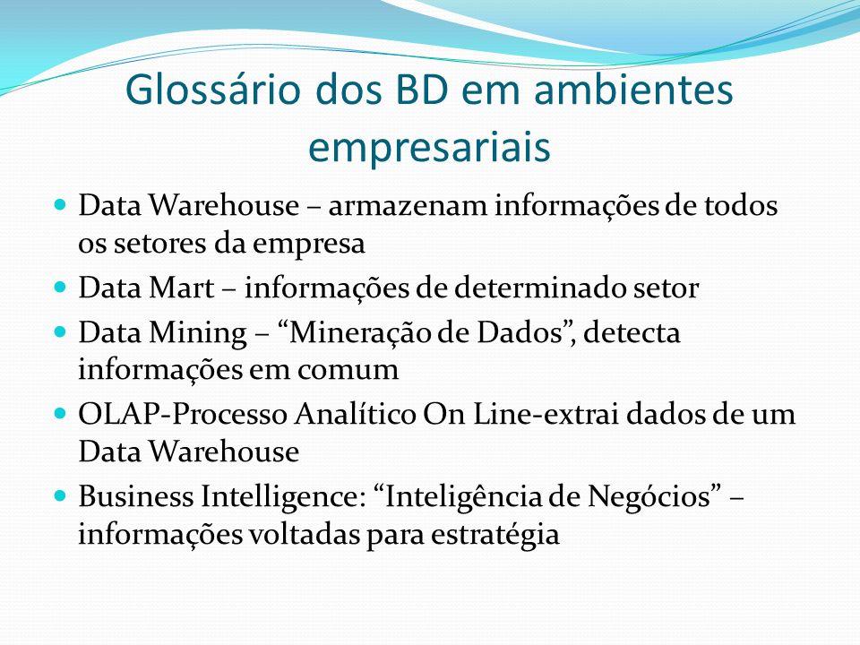 Glossário dos BD em ambientes empresariais