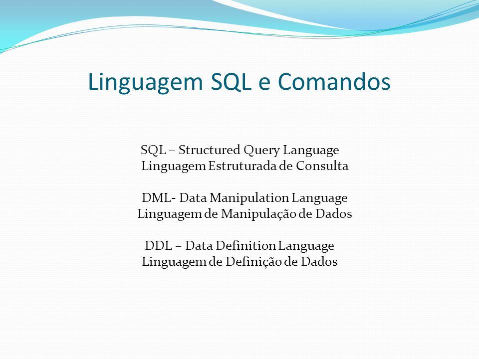 Linguagem SQL e Comandos