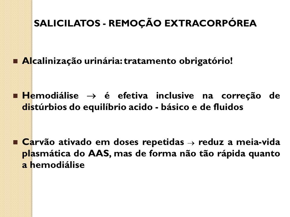 SALICILATOS - REMOÇÃO EXTRACORPÓREA